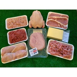 Family Pack  - Chicken Fillets, Beef Mince, Pork Stir Fry, Bacon, Cheese, Stir Fry Chicken, Frozen Whole Chicken