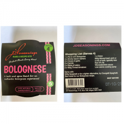 BOLOGNESE JD SEASONING