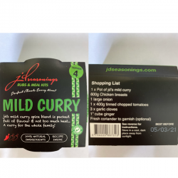 MILD CURRY  JD SEASONING