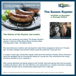 Sussex Royster Sausagemeat...